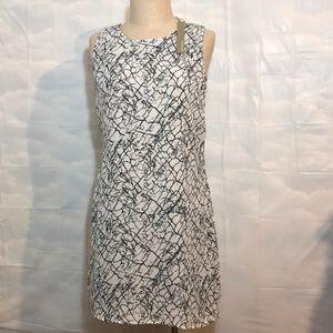 NWT Kenar Size2 Black & White Crackle Blouse dress
